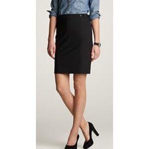 J Crew The Pencil Skirt in Black